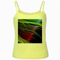 Abstract Satin Yellow Spaghetti Tank