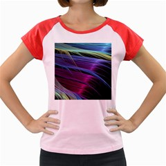 Abstract Satin Women s Cap Sleeve T-Shirt