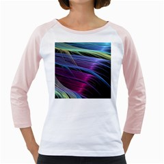 Abstract Satin Girly Raglans
