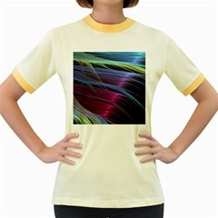 Abstract Satin Women s Fitted Ringer T-Shirts