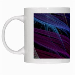 Abstract Satin White Mugs