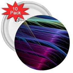 Abstract Satin 3  Buttons (10 pack)