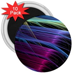 Abstract Satin 3  Magnets (10 pack)