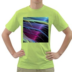 Abstract Satin Green T-Shirt