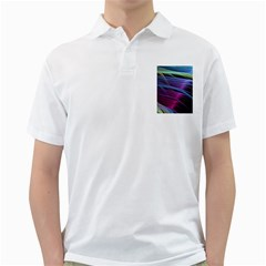 Abstract Satin Golf Shirts