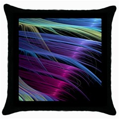 Abstract Satin Throw Pillow Case (Black)
