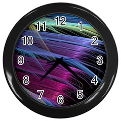 Abstract Satin Wall Clocks (Black)