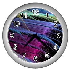 Abstract Satin Wall Clocks (Silver)