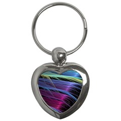Abstract Satin Key Chains (Heart)