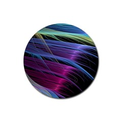 Abstract Satin Rubber Round Coaster (4 pack)