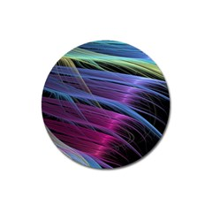 Abstract Satin Magnet 3  (round)