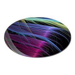Abstract Satin Oval Magnet