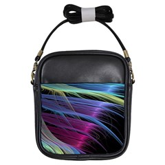 Abstract Satin Girls Sling Bags