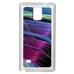 Abstract Satin Samsung Galaxy Note 4 Case (White)