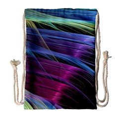 Abstract Satin Drawstring Bag (Large)