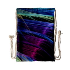 Abstract Satin Drawstring Bag (Small)