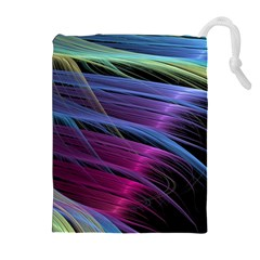 Abstract Satin Drawstring Pouches (Extra Large)