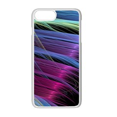 Abstract Satin Apple iPhone 7 Plus White Seamless Case