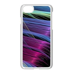 Abstract Satin Apple iPhone 7 Seamless Case (White)