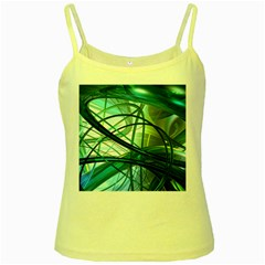 Abstract Yellow Spaghetti Tank
