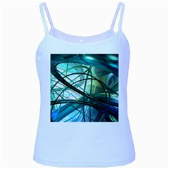 Abstract Baby Blue Spaghetti Tank