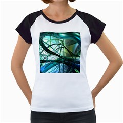 Abstract Women s Cap Sleeve T