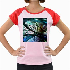 Abstract Women s Cap Sleeve T-Shirt