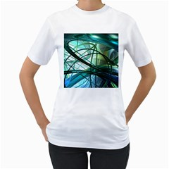 Abstract Women s T-Shirt (White) (Two Sided)
