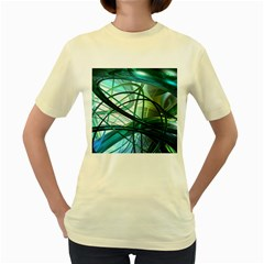 Abstract Women s Yellow T-Shirt