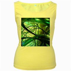 Abstract Women s Yellow Tank Top