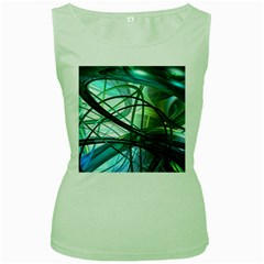 Abstract Women s Green Tank Top