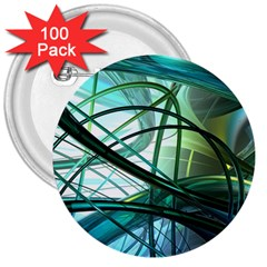 Abstract 3  Buttons (100 pack)