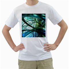 Abstract Men s T-Shirt (White) (Two Sided)