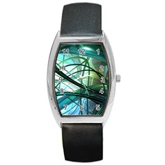 Abstract Barrel Style Metal Watch