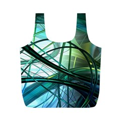 Abstract Full Print Recycle Bags (m)