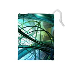 Abstract Drawstring Pouches (medium)