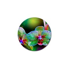 Alien Orchids Floral Art Photograph Golf Ball Marker (10 Pack)