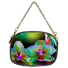 Alien Orchids Floral Art Photograph Chain Purses (one Side)