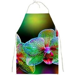 Alien Orchids Floral Art Photograph Full Print Aprons