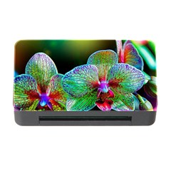 Alien Orchids Floral Art Photograph Memory Card Reader With Cf