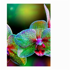 Alien Orchids Floral Art Photograph Small Garden Flag (two Sides)