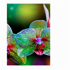 Alien Orchids Floral Art Photograph Large Garden Flag (two Sides)