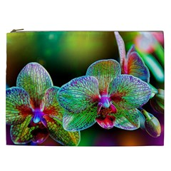 Alien Orchids Floral Art Photograph Cosmetic Bag (xxl)
