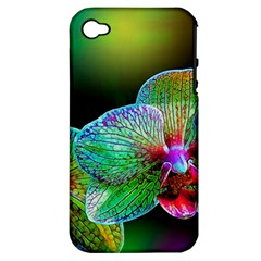 Alien Orchids Floral Art Photograph Apple Iphone 4/4s Hardshell Case (pc+silicone)