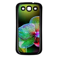 Alien Orchids Floral Art Photograph Samsung Galaxy S3 Back Case (black)