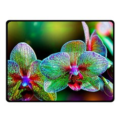 Alien Orchids Floral Art Photograph Double Sided Fleece Blanket (small)