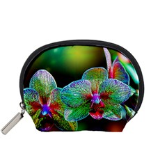 Alien Orchids Floral Art Photograph Accessory Pouches (small)