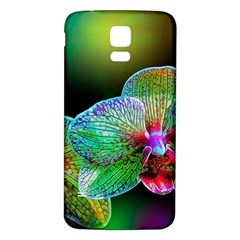 Alien Orchids Floral Art Photograph Samsung Galaxy S5 Back Case (white)