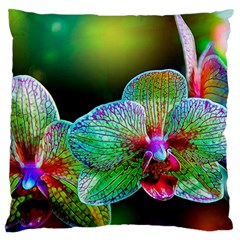 Alien Orchids Floral Art Photograph Large Flano Cushion Case (one Side)