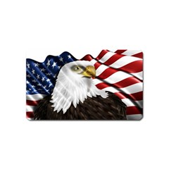 American Eagle Flag Sticker Symbol Of The Americans Magnet (name Card)
